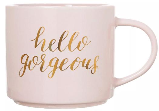 15oz Stoneware Hello Gorgeous Stackable Mug PinkGold - Threshold™