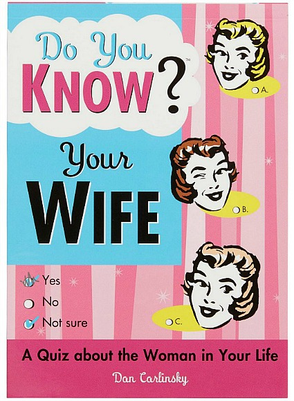 Do You Know Your Wife Fill In The Blank Quiz Book
