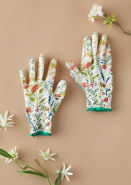 Floral Garden Weeder Gloves