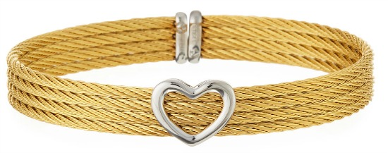 Heart Cuff Bracelet, Gold