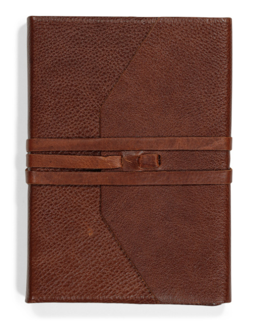 Made in Italy A5 Leather Wrap Journal