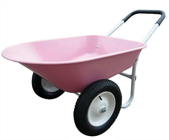 Marathon Industries Pink Poly Wheelborrow