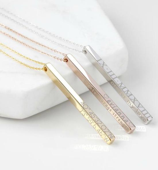 Personalized Jewelry Bar Necklace