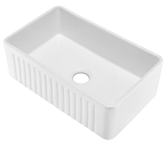 Swiss Madison Ceramic Farmhouse Kitchen Sink with Apron