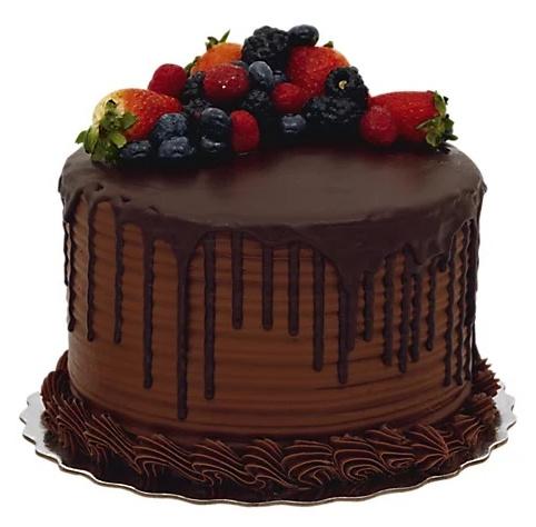 chocolate-berry-cake