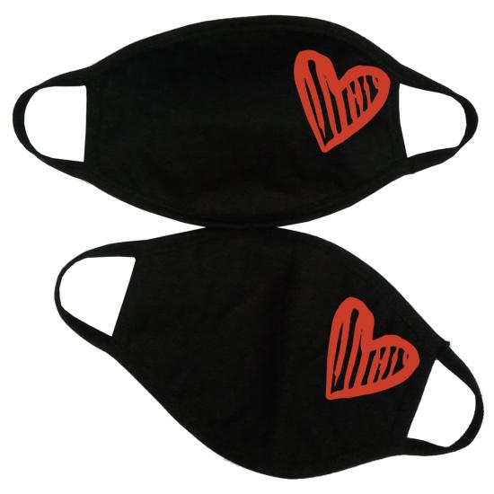 heart face masks