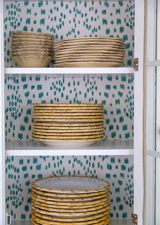 Liz Caan & Co. wallpaper cabinets