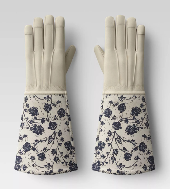 Roepickers Work Gloves Blue Floral - Smith & Hawken
