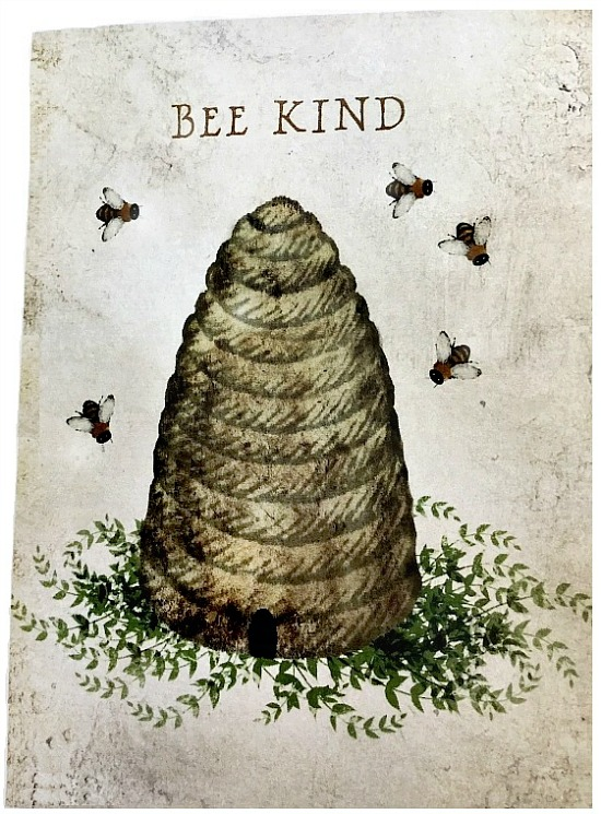 bee kind note card