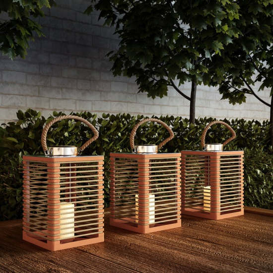 Battery Powered Integrated LED Outdoor Floor Lamp