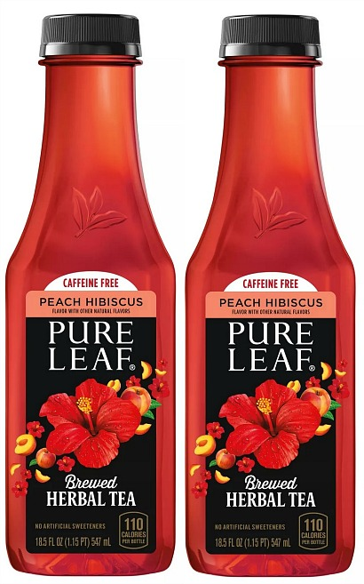 Pure Leaf Peach Hibiscus Herbal Tea