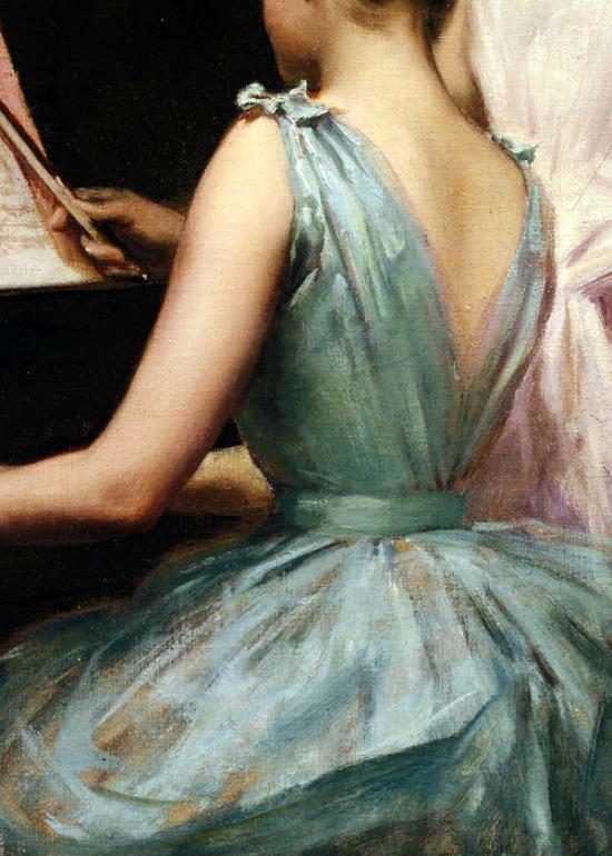 The Sonata by Irving Ramsey Wiles, 1889