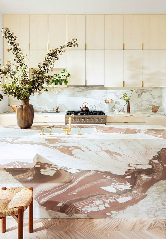 marble-swirl-countertops-kitchen-island