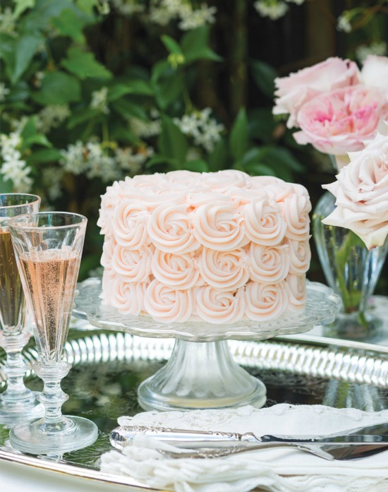 rose and lemon cake