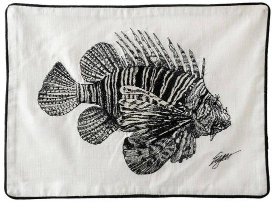 "Oisin Sea Creature 19"" Cotton Placemat (Set of 4)"