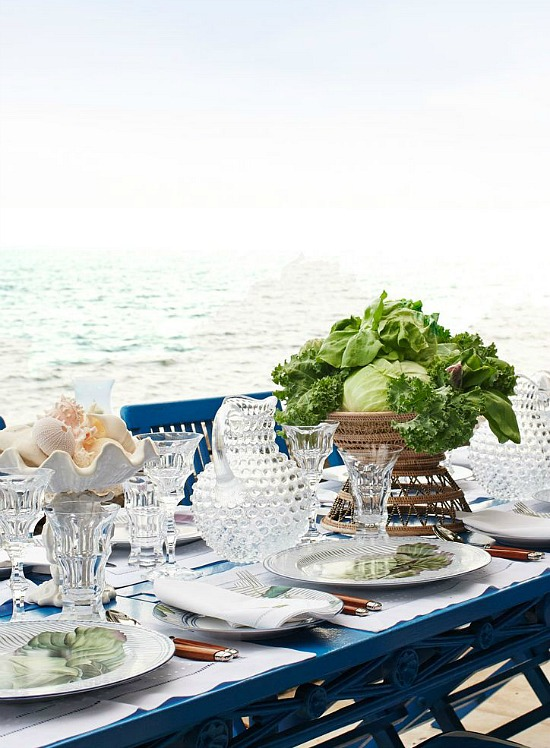 by the sea table setting ideas