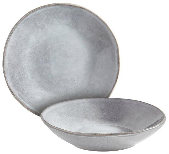 Reactive Gray Dinnerware