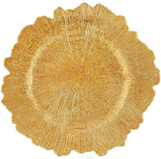 Reef Gold Charger Plates Set of 4-1