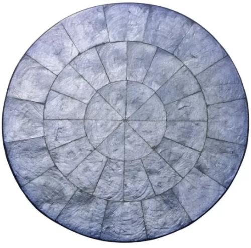 Round Capiz Periwinkle Placemat