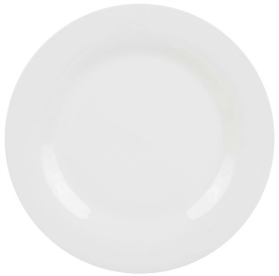 Royal Norfolk Classic White Round Stoneware Dinner Plates, 10.5 in.
