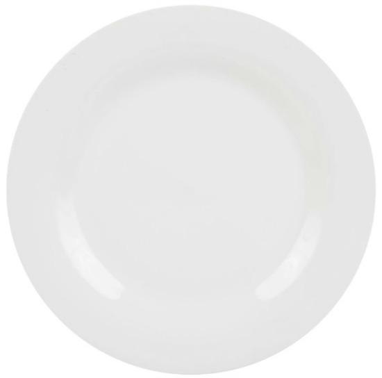 Royal Norfolk Classic White Round Stoneware Dinner Plates, 10.5 in.