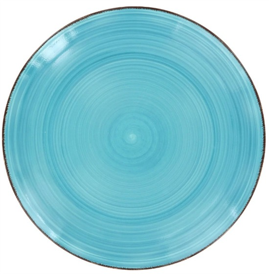 Royal Norfolk Turquoise Swirl Stoneware Dinner Plates