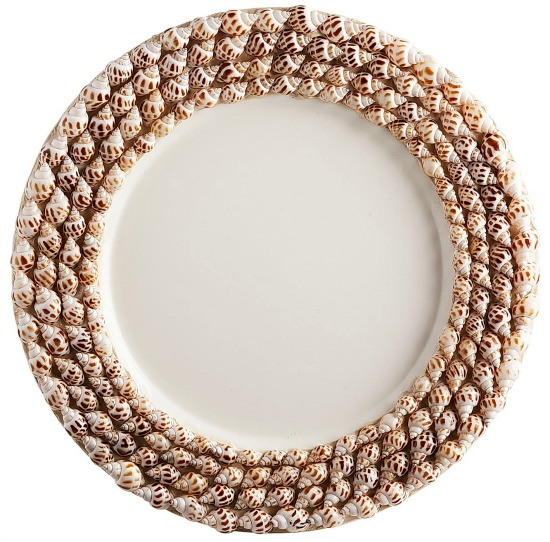 Shell Border Natural Charger Plate