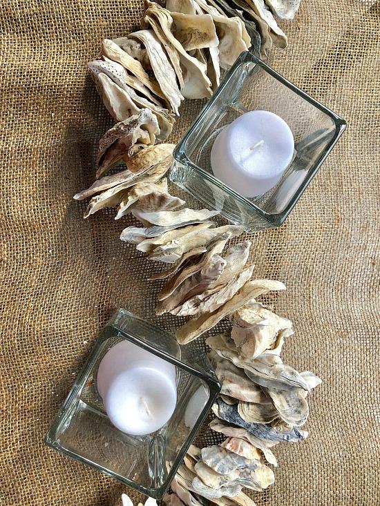 oyster shell table runner 6'
