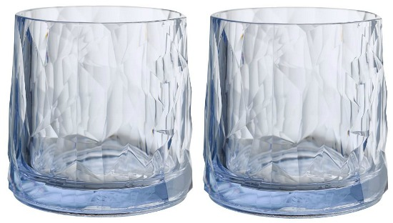 Geo Outdoor Double Old Fashioned Glasses, Set of 6 - Blue