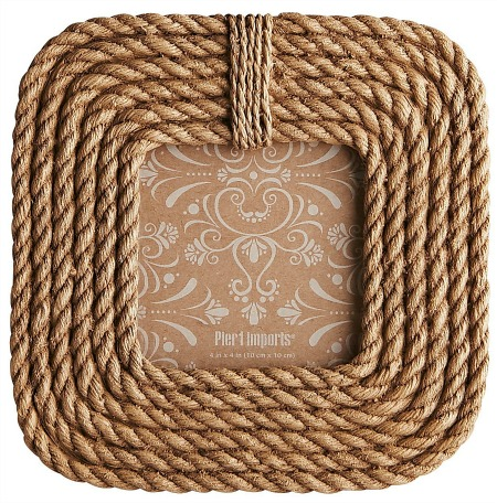 Natural Rope 4x4 Picture Frame