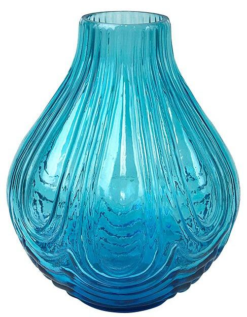 Blue & Teal Ombré Teardrop Vase