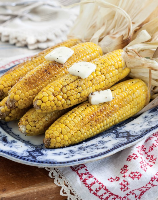 Brined, Oven-Roasted Corn on the Cob