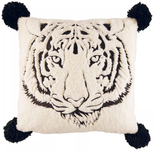 Betseyville 20 X 20 Betseys Tiger Throw Pillow Raven Black