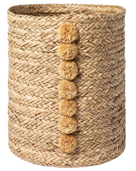 Braided Seagrass Round Basket Natural - Opalhouse