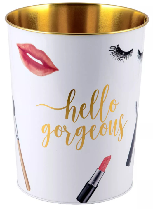 Cosmetique Wastebasket White - Allure Home Creations