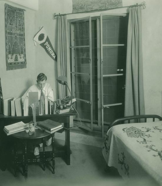 Dorm room inside Smiley Hall, Pomona College