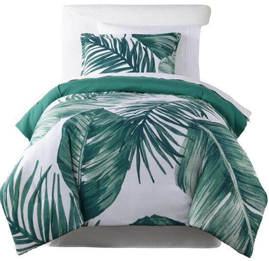 tropical-leaf-comforter-set