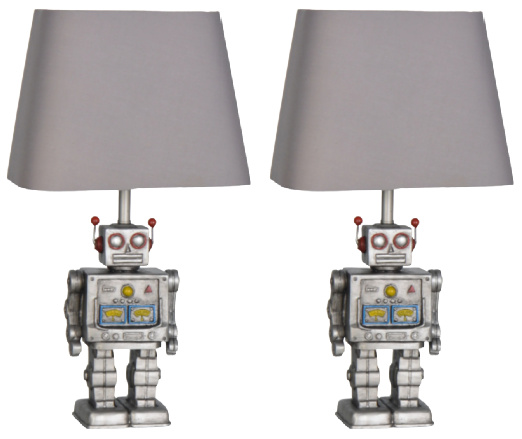 Lamps Per Se 16.5- inch Robot Table Lamp (Set of 2)
