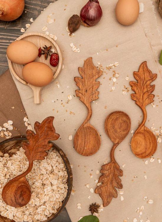 Leaf Wooden Spoon