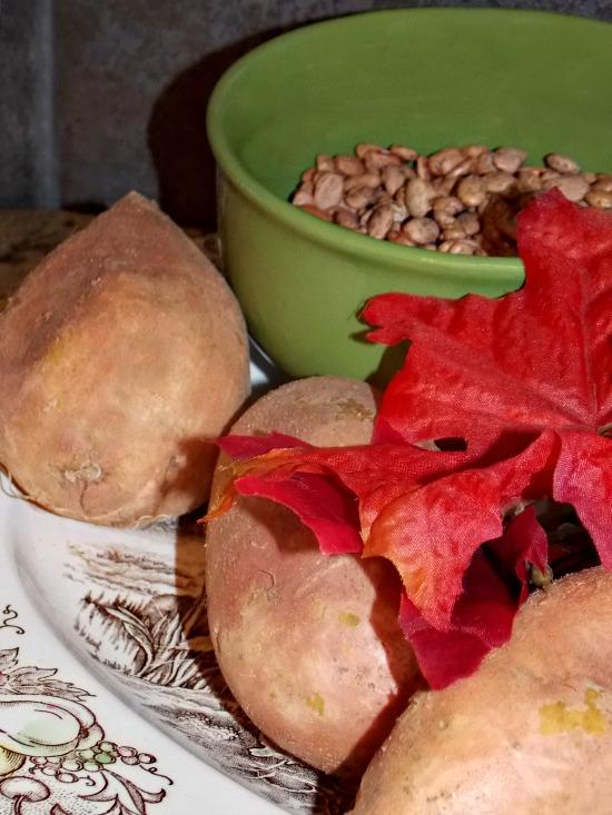 Louisiana-sweet-potatoes-dry-pinto-beans