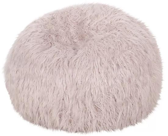 Mosier Modern Glam Faux Fur Bean Bag - Christopher Knight Home
