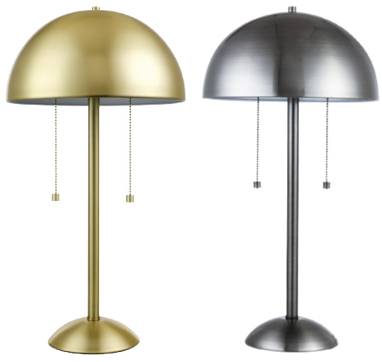 Novogratz Globe Electric Haydel Light Blackened Steel Table Lamp
