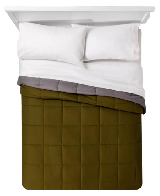 Reversible Microfiber Solid Comforter - Room Essentials™