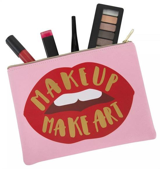 Ruby+Cash Zip Cosmetic Bag - Make Up Make Art