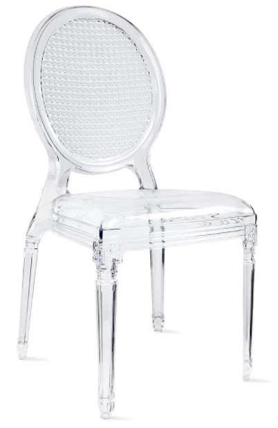 Stacking Clear Molded Designer Armless Chair