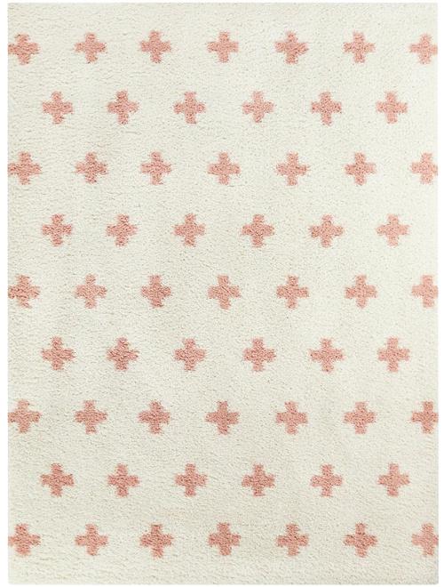 Taylor & Olive Parralena Peach Geometric Shag Rug