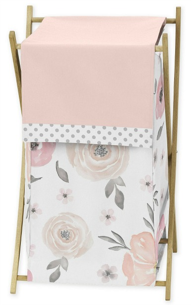 Watercolor Floral Laundry Hamper