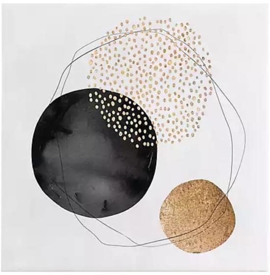 Neutral Dot Abstract Canvas Art Print
