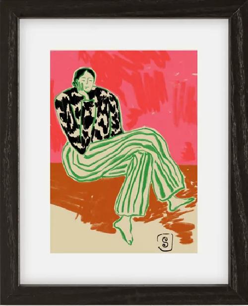 sandrapoliakov CALM WOMAN PORTRAIT Art Print