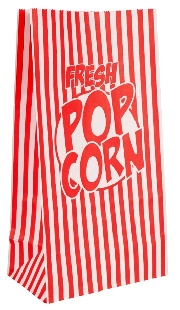 Essentials Single Serving Paper Popcorn Bags, 8-ct. Packs